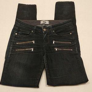 Paige Edgemont dark blue zipper jeans size 25